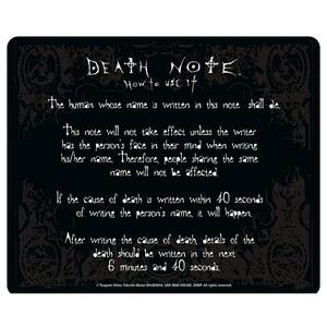 Mousepad Death Note. Rules