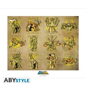 Saint Seiya Collector Artprint. Gold Clothes