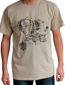 T-Shirt Signore degli Anelli Map M