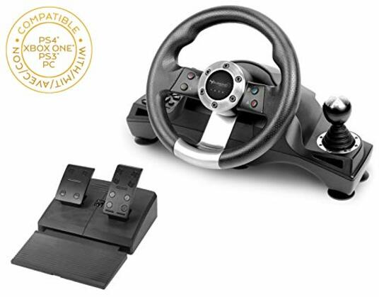 Subsonic Drive Pro Sport Volante da corsa con leva del cambio e pedali per Playstation 4 Xbox One PS4 Slim PS4 Pro PS3