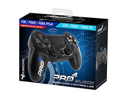 Subsonic Pro4 Wireless Controller Gamepad per PlayStation 4 e PS4 Slim Nero