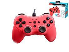 Subsonic - Colorz Controller per Nintendo Switch - Controller con Cavo Ultra Lungo 3 Metri, Vibrazione e Giroscopio - Rosso Neon