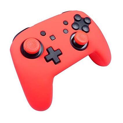 Subsonic Custodia Protettiva in Silicone per Controller Nintendo Switch Pro Controller Kit Personalizzato Colorz con Guscio in Silicone e Impugnature per Joystick. Rosso Neon