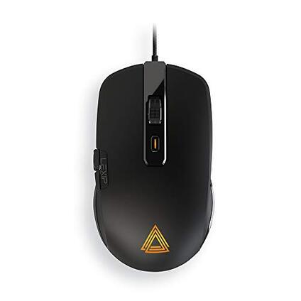 Lexip Mouse Gaming Np93 Neptunium Alpha Innovazione Francese con Joystick Interno a 2 Assi Massima Fluidità con Pattini in Ceramica + Peso Regolabile + 12 Pulsanti Programmabili