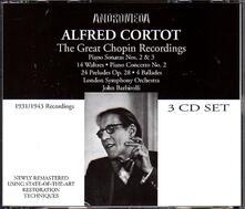 Alfred Cortot.Great Chopi - CD Audio di Fryderyk Franciszek Chopin