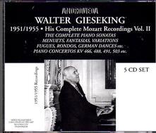 His Complete Mozart Recordings vol.2 - CD Audio di Wolfgang Amadeus Mozart,Walter Gieseking