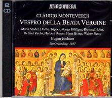 Vespro della Beata Vergine - CD Audio di Claudio Monteverdi,Eugen Jochum