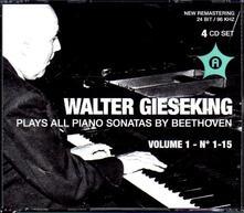 Gieseking Plays Piano Sonatas vol.1 - CD Audio di Ludwig van Beethoven,Walter Gieseking