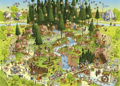 Puzzle 1000 pezzi Degano. Black Forest Habitat - 3