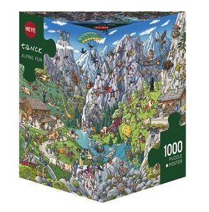 Giocattolo Puzzle triangolare 1000 pezzi Tank. Alpine Fun, Tanck Heye 0