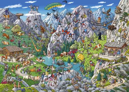 Giocattolo Puzzle triangolare 1000 pezzi Tank. Alpine Fun, Tanck Heye 1