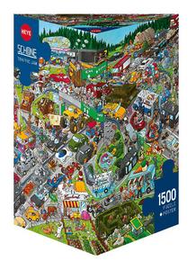 Giocattolo Puzzle triangolare 1500 pezzi Schone. Traffic Jam, Schöne Heye