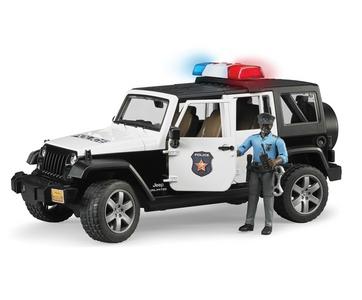 Giocattolo Jeep Wrangler Rubicon Polizia Bruder 0