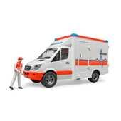 Giocattolo Mb Sprinter Ambulanza con Autista Bruder