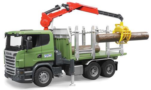 Camion Scania+Gru Carico+Tronchi (03524)