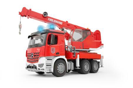 Bruder 03675. Mb Arocs Autogru Pompieri Con Luci E Suono