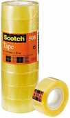 Cartoleria 3M Post-it. Nastro Adesivo Scotch Trasparente Acrilico 19 mm x 33 m. 8 pezzi Scotch