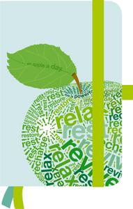 Cartoleria Taccuino a righe Green Journal small 10 x 15 TeNeues