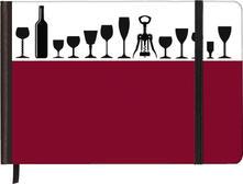 Taccuino pagine bianche Silhouettes Horizontal Wine