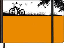 Taccuino pagine bianche Silhouettes Horizontal Bike