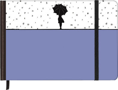 Taccuino pagine bianche Silhouettes Horizontal Rainy Day