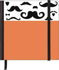 Taccuino pagine bianche Silhouettes Pocket Sqare Moustache