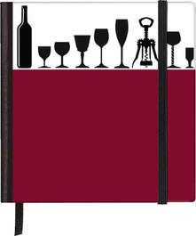 Taccuino pagine bianche Silhouettes Pocket Sqare Wine