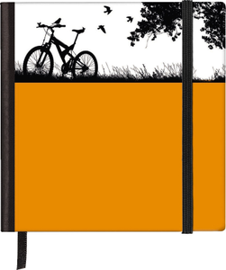 Cartoleria Taccuino pagine bianche Silhouettes Pocket Sqare Bike TeNeues