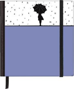 Taccuino pagine bianche Silhouettes Pocket Sqare Rainy Day