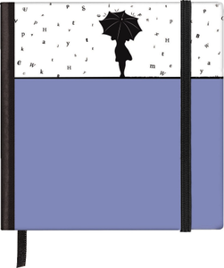 Cartoleria Taccuino pagine bianche Silhouettes Pocket Sqare Rainy Day TeNeues