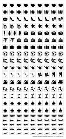 Adesivi per calendario Teneues Black & White