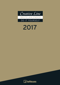 Cartoleria Calendario 2017 Creative Line Do It Yourself 21x29,7. Gold TeNeues