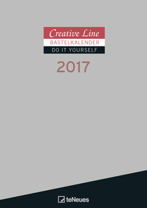 Cartoleria Calendario 2017 Creative Line Do It Yourself 21x29,7. Silver TeNeues