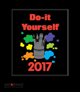 Calendario 2017 Art & Image Do It Yourself White 21x24