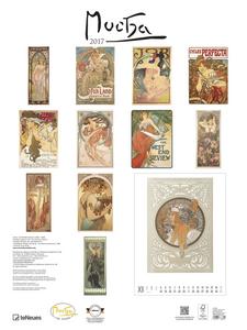 Cartoleria Calendario 2017 Poster. Mucha TeNeues 1