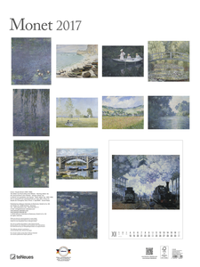 Cartoleria Calendario 2017 Poster. Monet TeNeues 1