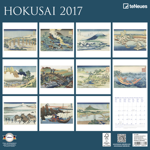 Cartoleria Calendario 2017 Fine Arts 30x30. Hokusai TeNeues 1