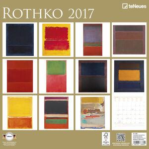 Cartoleria Calendario 2017 Fine Arts 30x30. Rothko TeNeues 1