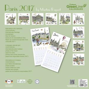 Cartoleria Calendario 2017 Family Planner 30x30. Paris TeNeues 1