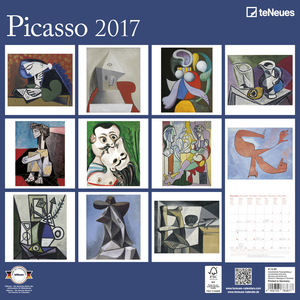Cartoleria Calendario 2017 Fine Arts 30x30. Picasso TeNeues 1