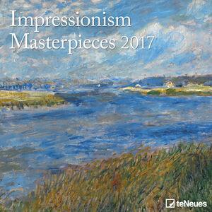 Cartoleria Calendario 2017 Fine Arts 30x30. Impressionism TeNeues 0