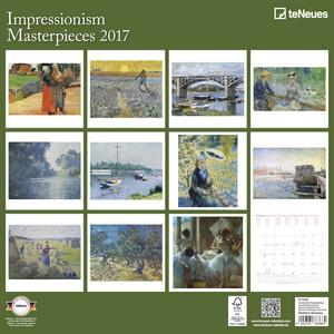 Cartoleria Calendario 2017 Fine Arts 30x30. Impressionism TeNeues 1