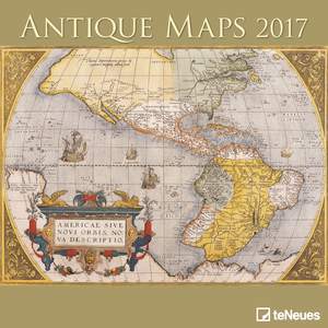 Cartoleria Calendario 2017 Fine Arts 30x30. Antique Maps TeNeues 0