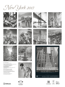 Cartoleria Calendario 2017 Poster. New York TeNeues 1