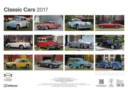 Cartoleria Calendario 2017 Classic Cars TeNeues 1