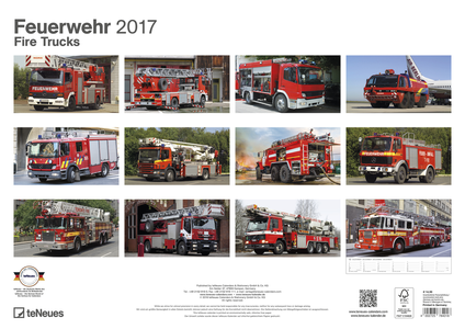 Cartoleria Calendario 2017 Fire Trucks TeNeues 1
