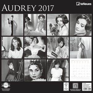 Cartoleria Calendario 2017 Photography 30x30. Audrey Hepburn TeNeues 1