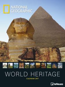 Cartoleria Calendario 2017 Poster. National Geographic World Heritage TeNeues 0