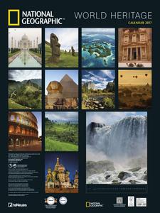 Cartoleria Calendario 2017 Poster. National Geographic World Heritage TeNeues 1