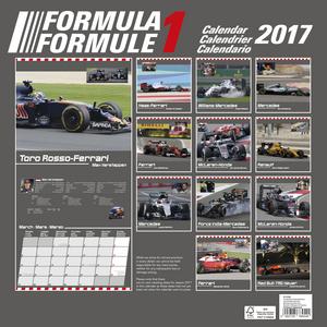 Cartoleria Calendario 2017 Sport 30x30. Formula 1 TeNeues 1